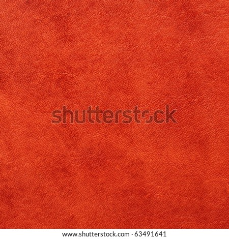 red handmade leather sample - stock photo