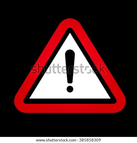 Red hazard warning attention sign. - stock photo