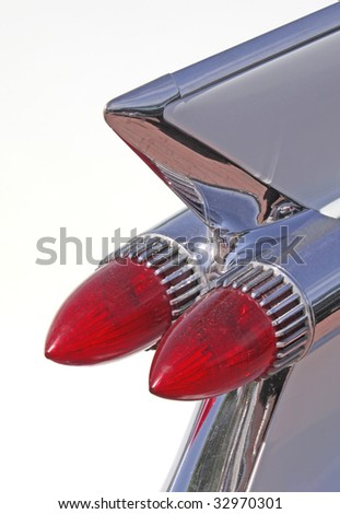 Red headlight in retro style. More in MY GALLERY - stock photo