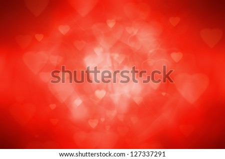 red heart abstract background - stock photo