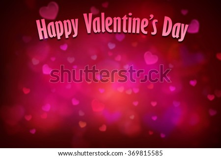red heart background for valentines day with copy space - stock photo