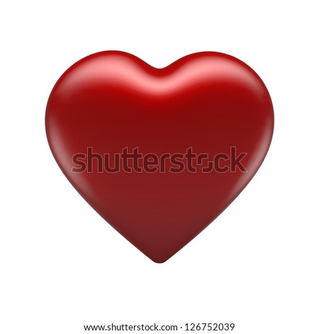 Red Heart 3D - stock photo