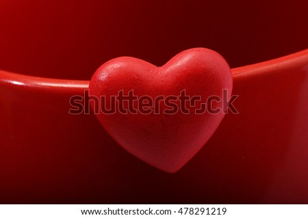 Red heart for love and valentine's day celebration