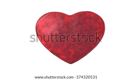 red heart for valentine day - stock photo