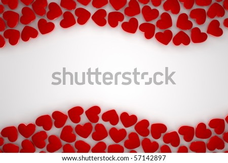 red heart frame - stock photo
