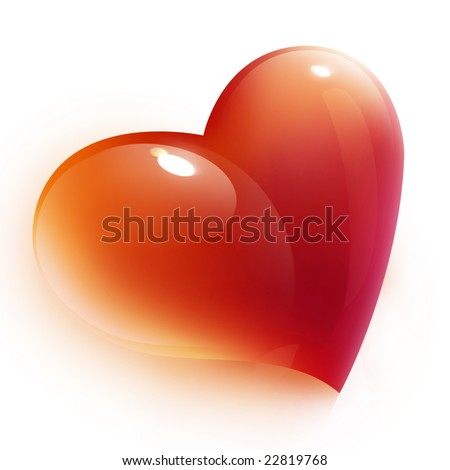 red heart icon for valentine's day - stock photo