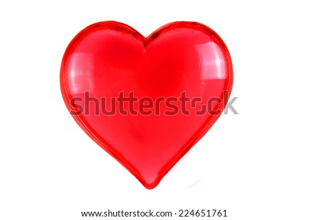 red heart isolated on the white background - stock photo