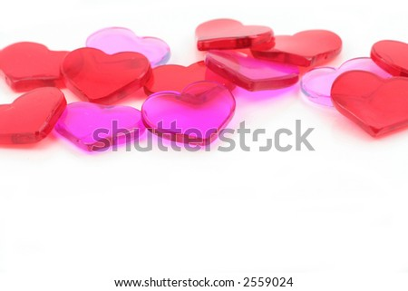 red heart, love concept, with white background