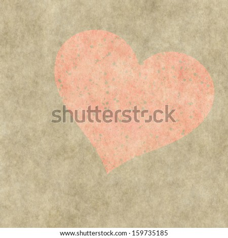 red heart on a grunge background. Valentine's day symbol
