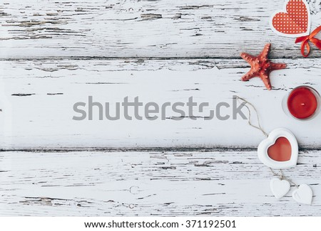 red heart on grunge old background/valentines day background - stock photo