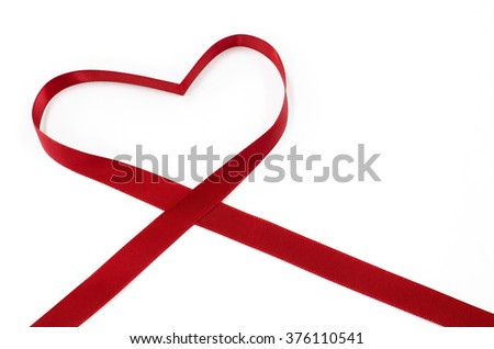 Red heart on white background, Heart Shaped ,valentines day concept, St. Valentine's festival