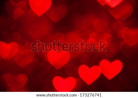 red heart shape holiday background - stock photo