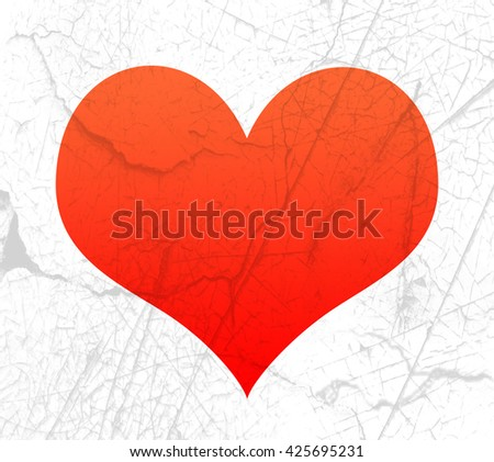 Red heart shape overlaid with gray texture