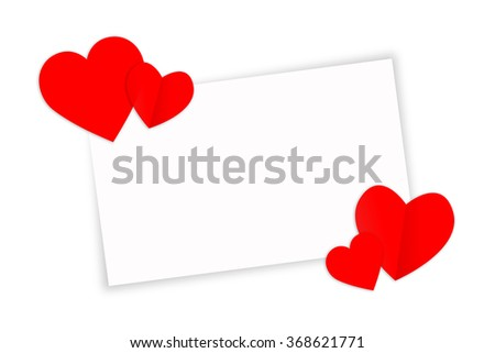 red heart with clipping path