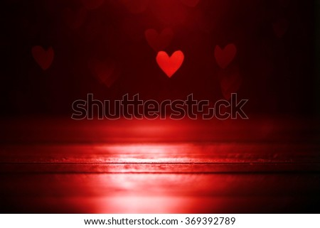 Red hearts background - stock photo