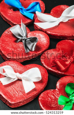 red hearts valentines. It can be used for congratulations valentine or mother's day