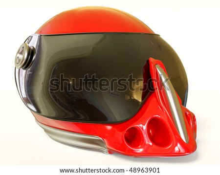 red helmet on white background
