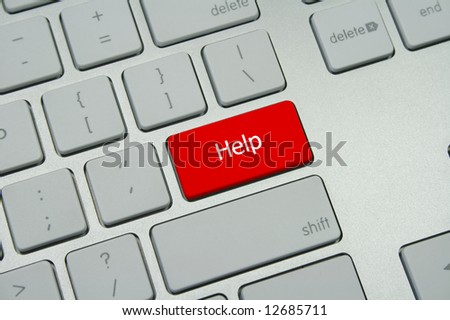 "Red ""Help"" Button - stock photo"