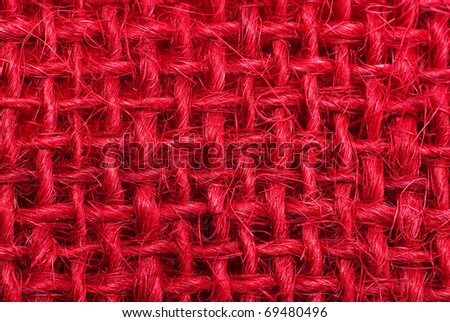Red hessian macro background