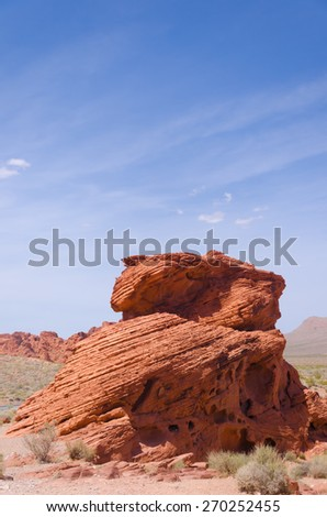 Red hoodoo rocks in Bryce Canyon National park, Utah, USA - stock photo