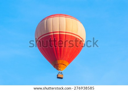 Red hot air balloon - stock photo