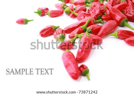Red hot chilli isolated on white - stock photo
