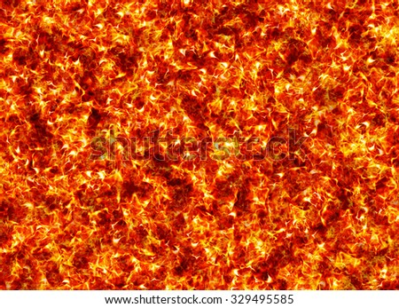 red hot fire texture background - stock photo