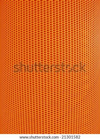 Red-hot metal mesh - stock photo