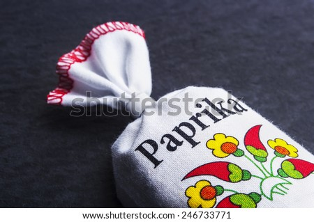 Red hot paprika/pepper powder. - stock photo