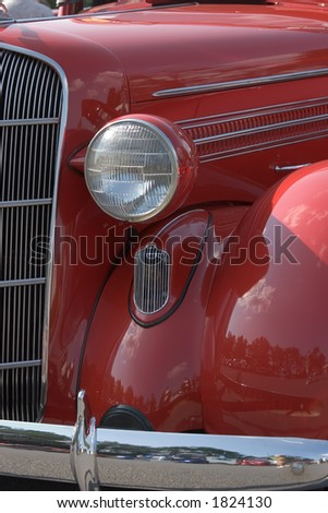 Red Hot Rod Hood - stock photo