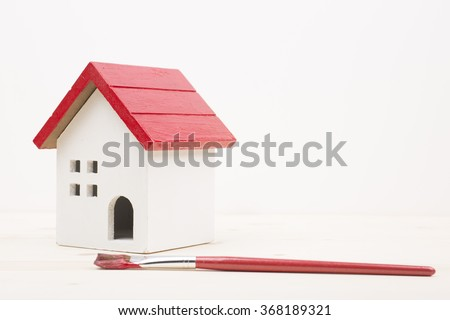 Red house and paint