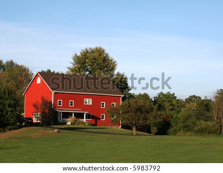 Red House at Sunset