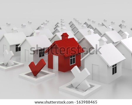 Red house choice concept