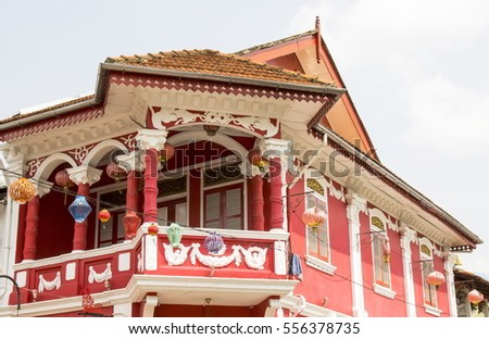Red house in Johor Bahru Malaysia