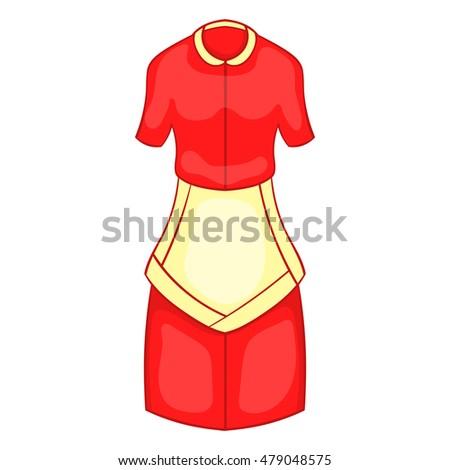 Red dress cartoon school