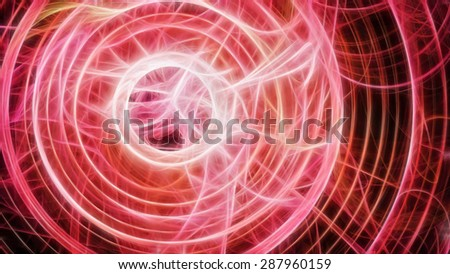 Red hypnotic circle - stock photo