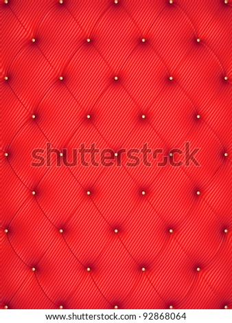 red interior decorating background - stock photo