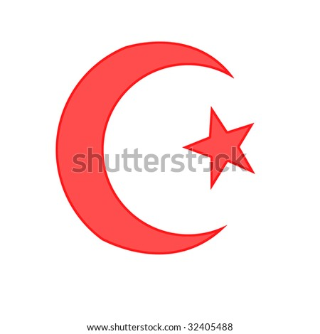 Islamic Red Isolated Religious Sign Stock Photos, Images ...