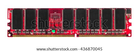 Red isolated RAM - stock photo