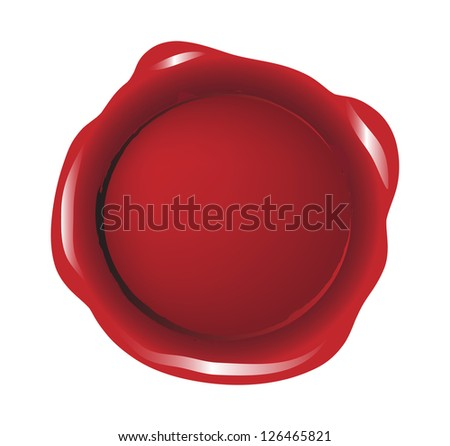 Red isolated seal wax