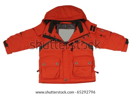 red jacket - stock photo