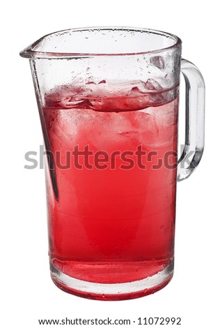 Red Juice - isolated on white - stock photo
