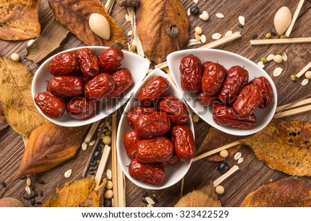 Red jujube isolated on white background
