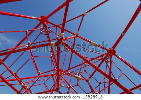 Red Jungle Gym - stock photo