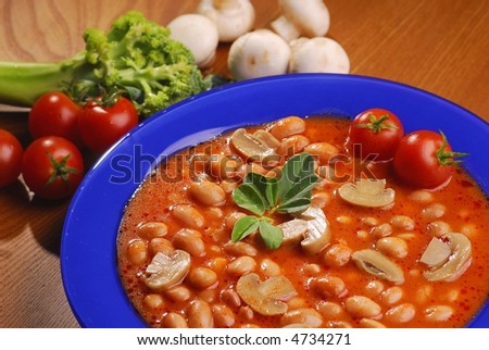 red kidney beans with tomatos - stock photo