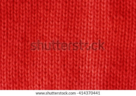 Red Knitted Wool Close Up./Red Knitted Wool Close Up - stock photo