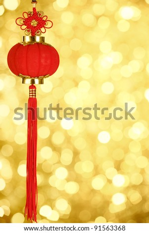 Red lantern for Chinese new year greeting