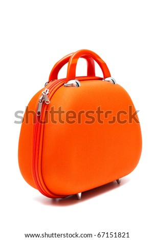 red large bag on a white background