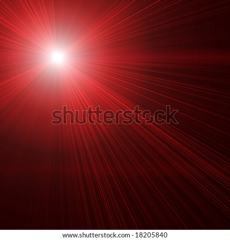 Red laser beams on black - stock photo