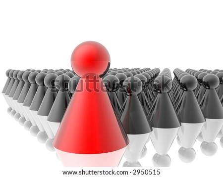 Red leader of management - stock photo